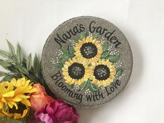 SUNFLOWER Mother's Day, Nanny's Day Gift, Gift for Nana Sunflowers Stone, Mothers Day, Mother's Day Gift, Nanny Gift, Nana GIft, Mothers Day by samdesigns22 on Etsy