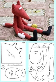 DIY Fox Plushie - FREE Sewing Pattern