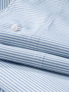 Stripe Oxford Sheet Set or Pillowcase from Lands' End.  I love blue and white bed linen and these sheets would look great with blue and white floral duvet cover or bedspread.