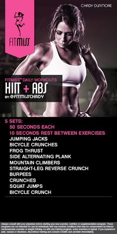 FitMiss HIIT  Abs Workout powered by Delight! #FitMiss  Find out more at www.facebook.com/iamfitmiss  www.twitter.com/iamfitmiss