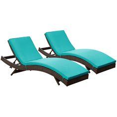 Peer Chaise Outdoor Patio Set of 2 EEI-1172