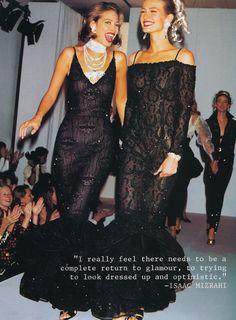 #vintage Christy Turlington & Karen Mulder for Isaac Mizrahi 1993 #90s #thesupers
