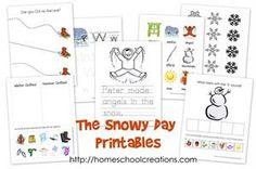 Winter and Literature Themed Multi-Skill Preschool Printables