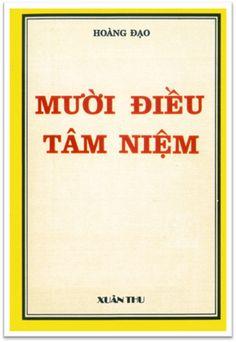 Mười Điều Tâm Niệm (NXB Xuân Thu 1976) - Hoàng Đạo, 76 Trang | Sách Việt Nam