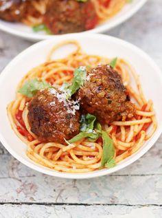 Jamie's meatballs - http://www.jamieoliver.com/recipes/pasta-recipes/meatballs-and-pasta/