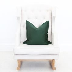 Green Throw Pillow Cover
