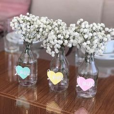 100 Romantic DIY Valentine's Day Decor Ideas To Create a Wonderland of Hearts - Ethinify Rainbow Birthday, Girl Birthday, Apothecary Jars Decor, Burlap Garland, Party Decoration, Baby Shower, Decorated Jars, Wedding Table Centerpieces, Wine Bottle Crafts
