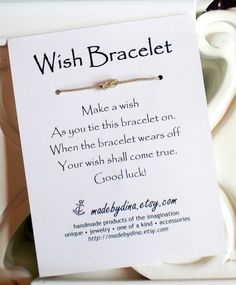 Sailor Knot WISH BRACELET Wedding Favor Party Favor by madebydina, $1.85