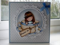 Another of my cards made with my new Gorjuss stamps.