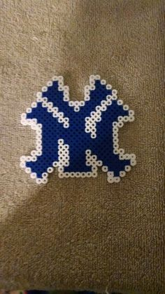 New York Yankees perler beads made buy Noreen Campagna