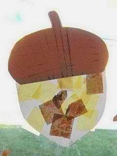 Maro's kindergarten: Acorn crafts!  Project: Τα χρώματα του φθινοπώρου μέρος 5ο - Βελανίδια