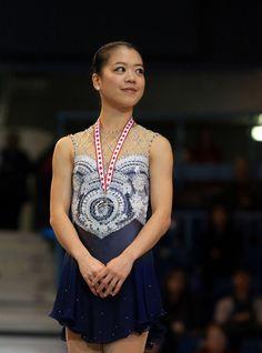 Akiko Suzuki, 2013 Skate Canada,Blue/Grey Figure Skating / Ice Skating dress inspiration for Sk8 Gr8 Designs.