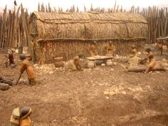 Model of First Nations Historic Village Huron County, Model Village, Teaching Social Studies, Grade 3, First Nations, Archaeology, Ontario, Quanah Parker, Iroquois