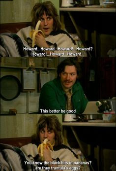 The mighty boosh lol .we've had this moment British Humor, British Comedy, The Mighty Boosh, Mighty Mighty, English Comedians, Tv Funny, Noel Fielding, Quote Of The Week, Comedy Tv