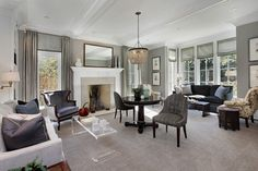 American Colonial - transitional - living room - chicago - Highgate Builders