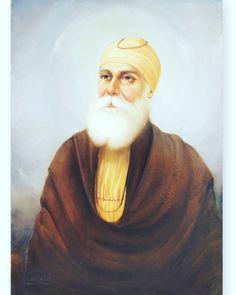 Guru Nanak Photo, Guru Nanak Ji, Nanak Dev Ji, Religious Photos, Religious Paintings, Guru Hargobind, Baba Deep Singh Ji, Guru Nanak Wallpaper, Good Morning Friends Images