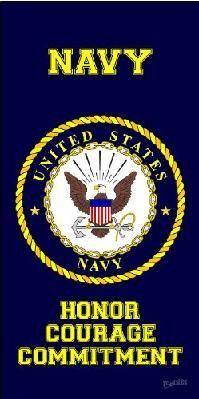 "U.S. NAVY BEACH TOWEL  30"" X 60""                                                                                                                            More"