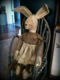 Rock River Stitches: New Primitive Bunny Doll
