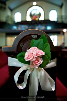 Pretty on the pews.