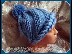 Спиральная шапочка (спицы). Knitting hat - YouTube