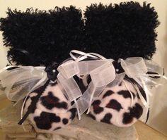 Leopard with Black Minky Cuddly Snugglies by TutuBeautifulbyCiwi