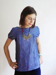 Lisa's short sleeve Mathilde blouse