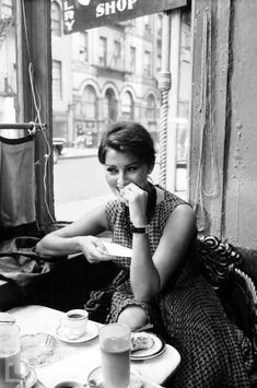 """Sophia Loren, New York City, 1958, photo by Peter Stackpole  """"I was born wise. Street-wise, people-wise, self-wise. This wisdom was my birthright. I was also born old. And illegitimate. But the two big advantages I had at birth were to have been born..."""