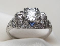 Art Deco Diamond Engagement Ring | Isadora's