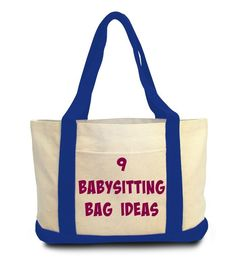 Don't show up empty handed when you babysit. Check out these 9 babysitting bag ideas filled with activities to entertain the kids while babysitting.
