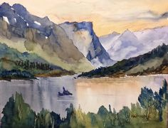 Paint Along with Larry Hamilton - July 20, 2014 - Watercolor - Goose Island