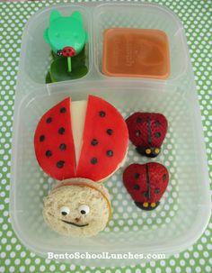 Bento Lunch: Ladybug Bento @EasyLunchboxes #Bento #Ladybug www.facebook.com/BentoSchoolLunches