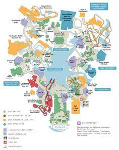 Universal Studios Orlando map of area  Universal Studios Guide