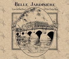 Vintage Paris Pont Neuf Belle Jardiniere Instant от UnoPrint