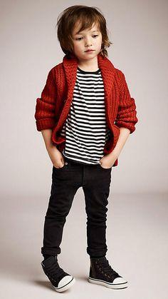 Shawl Collar Cardigan   Burberry #kids