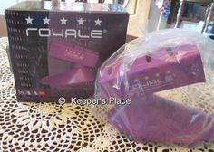 Royale Iron Holder Purple Use With Any Hair Tool Wall Counter Mirror Mount New #Royale