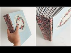 How to make an easy no sew journal Mini Scrapbook Albums, Mini Albums, Filofax Diy, Bullet Journal Cover Ideas, Journal Covers, Journal Ideas, Travelers Notebook, Design Youtube, Homemade Journal