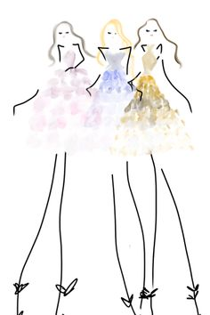 ombre skirts #fashion #bybc #fashionillustration