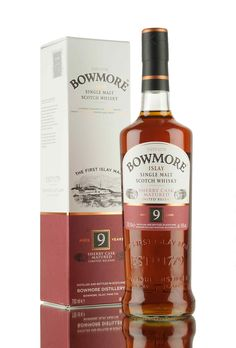 A new limited release from Bowmore distillery, aged for 9 years in a combination of Oloroso sherry & bourbon casks. A lovely combination of rich sherry notes & soft peat smoke, bottled at 40%.