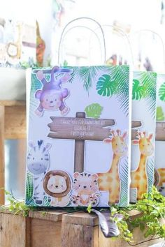 Check out this cool modern safari 1st birthday party! The party favor bags are so sweet! See more party ideas and share yours at CatchMyParty.com Safari Party Favors, Safari Birthday Party, Jungle Party, Jungle Safari, Animal Birthday, Party Favor Bags, Birthday Party Favors, 1st Birthday Parties, Girl Birthday