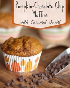 Everyone LOVES these! Decadent pumpkin muffins, with bursts of creamy chocolate and swirls of date-infused caramely filling. Make-ahead and mini options, too!