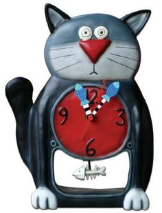 Allen Designs Black Kitty Pendulum Clock *** Find out more about the great product at the image link.