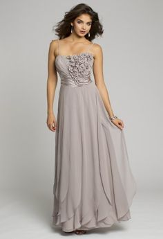 Bridesmaid Dresses - Chiffon Long Dress with Carwash Pleats from Camille La Vie and Group USA