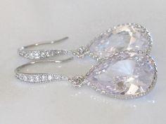 Marina  BRIDAL EARRINGS  Vintage CZ Crystal by AuroraJewelryBox, $38.00