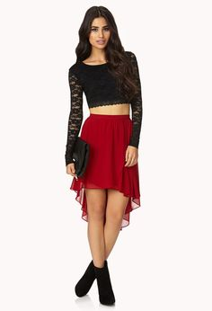 Chic Layered Chiffon Skirt | FOREVER21 - 2000112035