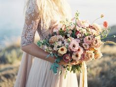 Beautiful rose colored bridal bouquets
