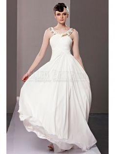 A-line Princess Bateau Bateau Floor-length Chiffon Malay Satin Luxury Evening Dresses
