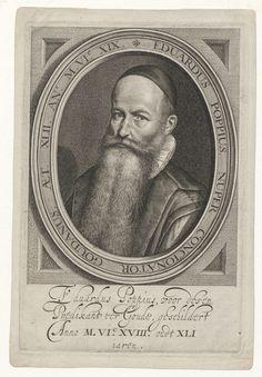 Portret van Eduardus Poppius (1576-1624), remonstrants predikant te Gouda - Geheugen van Nederland