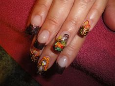 Thanksgiving Nails by Nailsbydina - Nail Art Gallery nailartgallery.nailsmag.com by Nails Magazine www.nailsmag.com #nailart