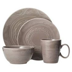 Threshold™ Kennet 16 Piece Dinnerware Set - Charcoal Heather