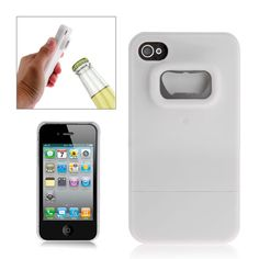Snap-on Plastic Hard Case Cover with Bottle Opener for iPhone 4/4S
